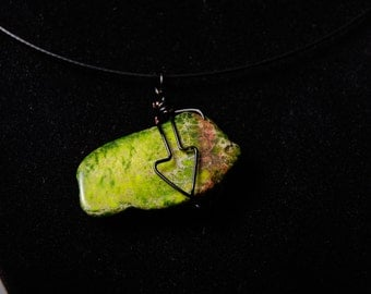 Moss I Ask Wire Wrapped Pendant