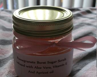 Pomegranate burst sugar scrub