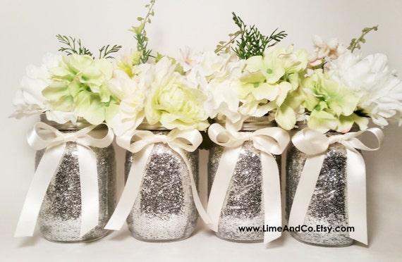 Mason Jar Centerpiece Bridal Shower Decor Wedding