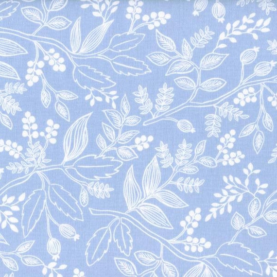 Panel Crib Skirt >> Rifle Paper Co. Queen Anne in Pale Blue >> MADE-to-ORDER light blue crib skirt, floral crib skirt, floral baby bedding