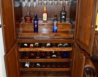 Rustic Bar Cabinet - Made to Order & Customizable
