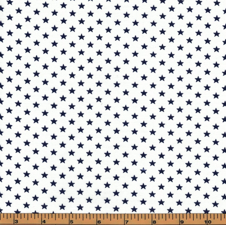 Blue stars galaxy fabrics 100 cotton fabric for Galaxy material fabric