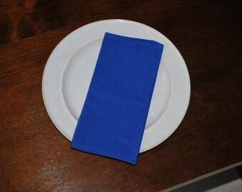 Classic Blue Cloth Napkins - 4 Cloth Napkins Free US  Shipping