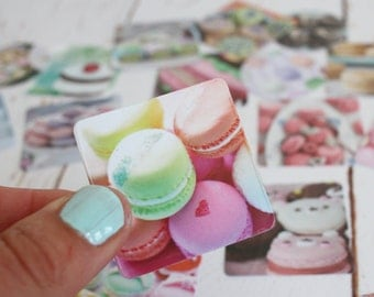 Macaroons sticker set/ Pretty Cakes Planner sticker set/ Snail Mail stickers