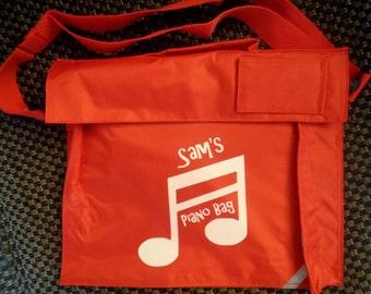 Personalised book bag / School Bag / Music Bag / Kids Book Bag / Piano Bag / Nursery Bag
