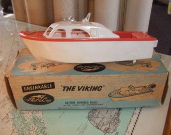 "Fleet Line ""The Viking"" Vintage Toy Boat"