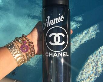 Monogram chanel inspired water bottle