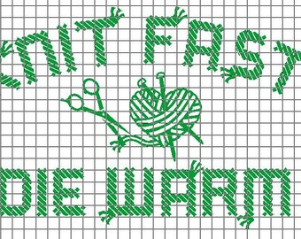 Cross Knit Loop Stitch : Yarn knitting vinyl Etsy