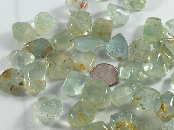 Beautiful Tumbled TOPAZ Healing Gemstone// Blue Topaz// Tumbled Stones// November Birthstone// Healing Crystals// Healing Tools//Birthstones