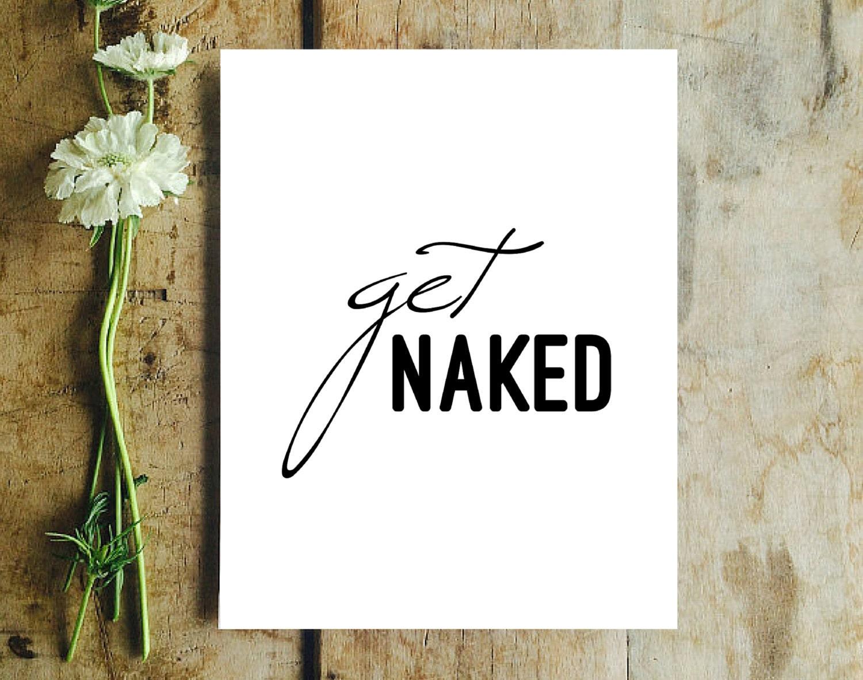 Funny Bathroom Art Print Get Naked Stick Figures Modern