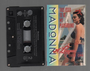 Vintage Cassette Tape : Cassette Single - Madonna - This Used To Be My Playground / (Long Version) 91-88224