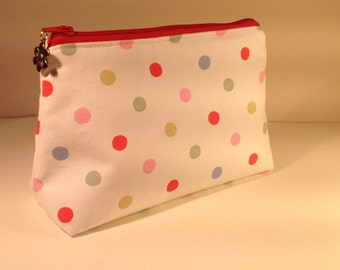 Handmade cotton large makeup bag -  waterproof lined - choice of gorgeous fabrics