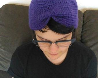 Dark Purple Soft Turban Head Wrap