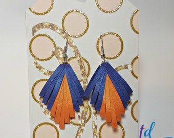 """The """"Gatsby""""//Quilled Earrings//Orange and Blue Earrings//Orange Earrings//Blue Earrings//Accessories//For Her//Gifts"""