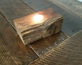 Reclaimed Wood Votive Candle Holder