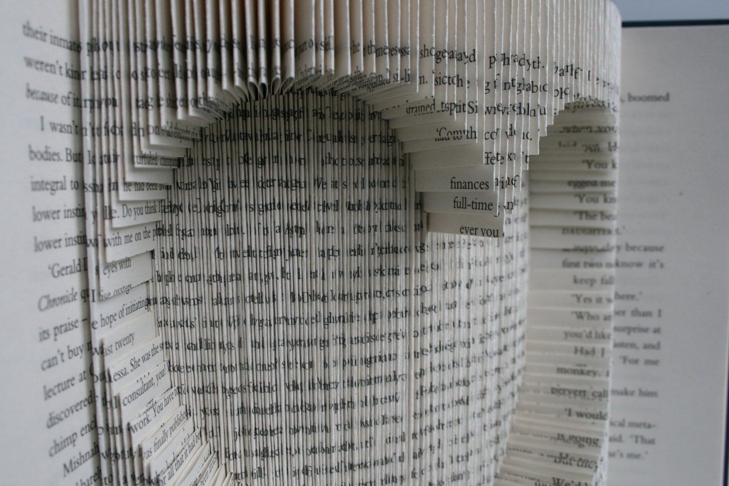 Book Folding Pattern In Inches Inverted Heart: Book