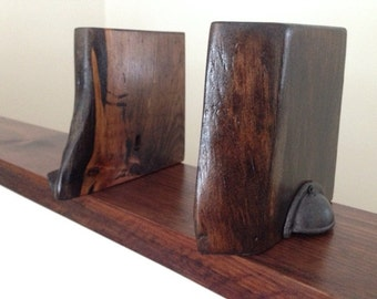 Live Edge Book Ends