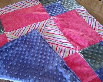 Pieced Purple Baby Blanket