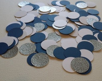 150 Piece Confetti Blue, White and Silver Glitter