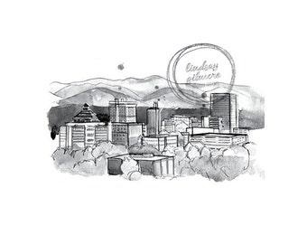 Asheville Skyline print