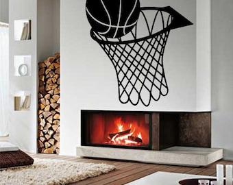 Wall Vinyl Sticker Decals Mural Room Design Decor Art Pattern Basketball Game Sport Hobby mi643
