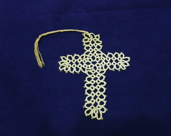 Vintage Crocheted Cross Bible Bookmark from the 1940's