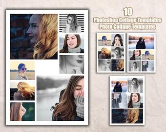 photoshop collage templates etsy