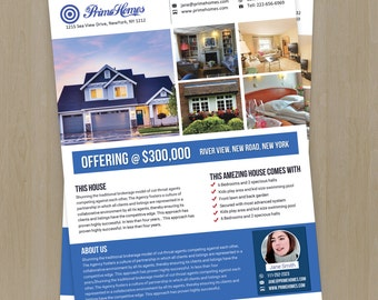Real Estate Advertising Flyer Template -Editable in MS Word, Powerpoint, Photoshop template - Advertising Marketing  INSTANT DOWNLOAD