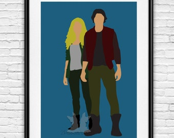 The 100 Bellamy Blake and Clarke Griffin Poster Bellark