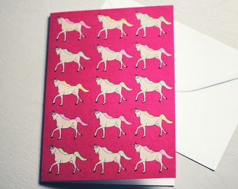 Unicorns Everywhere! | Greetings Card