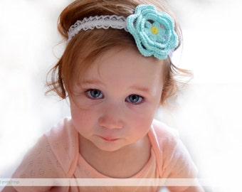 Newborn Crochet Headband // Baby Headwrap/Mom and Baby Headband /Baby Shower Gift Idea/Knotted Headband/Cotton/Toddler