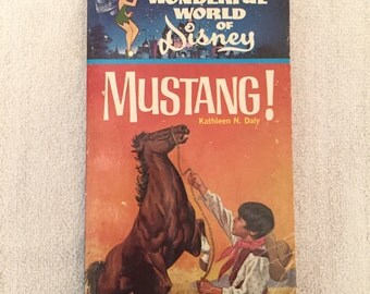 Vintage The Wonderful World Of Disney Mustang! Book
