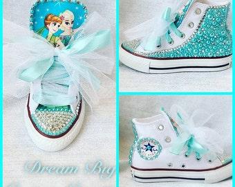 Frozen Pearl & Bling High Top Converse