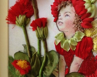 Embroidered silk ribbons picture