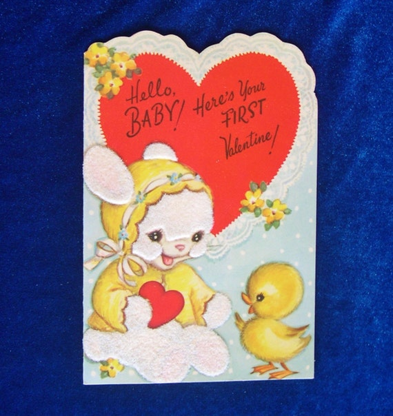 Valentines Day Vintage Bunny Rabbit Cards Page Two  Valentines