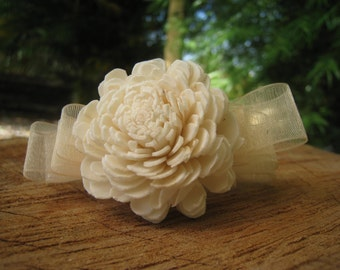Wrist Corsage-Wedding Corsage -Sola Flower-Comes with an organza gift bag