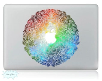 Colorful Flowers Decal Mac Stickers Macbook Decals Macbook Stickers Apple Decal Mac Decal Stickers Laptop Decal