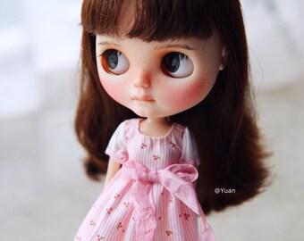 Yuan's Blythe dress /outfit /clothe/handmade/licca/doll/vintage/socks