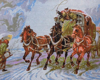 Large Needlepoint  Canvas Winter