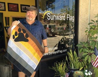Bear Pride Flag 2'x3' LGBT Community -Gay Rights -Pride, Brotherhood Flag,