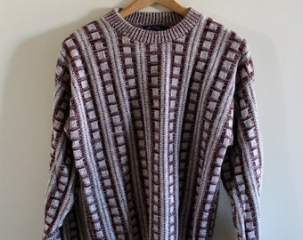 Vintage 90s geometric sweater!