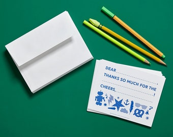 NEW! Blue Thank You Cards