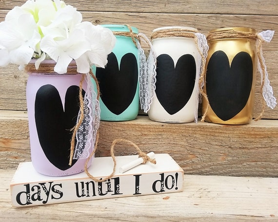 Wedding countdown-Engagement gift-Chalkboard countdown-Unique couples ...
