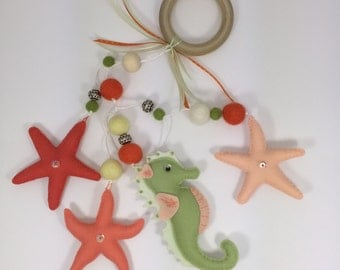 Seahorse and Starfish Vertical Mobile