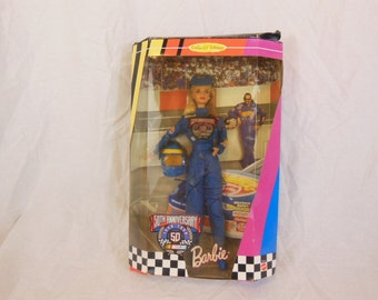 Barbie Doll 50th Anniversary NASCAR Collector Edition Kyle Petty Autographed! NEW