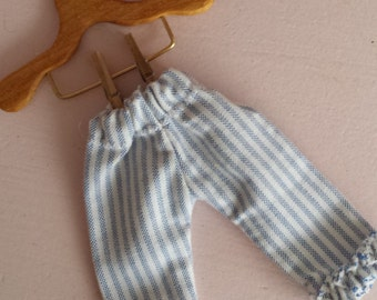 shabby chic Blythe bloomers tickling stripe blue