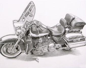 Custom Hand-Drawn Automobile Graphite Portrait