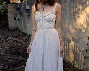 Vintage 1970's Summer Prairie Dress with Tag// Gunne Sax