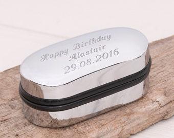 Personalised Cufflink Box - Birthday Gift, Father's Day, Anniversary, Graduation Present