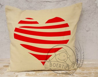 Cushion cover red heart